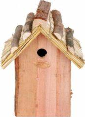 Houten Vogelhuisje Met Rieten Dakje 18x27 Cm