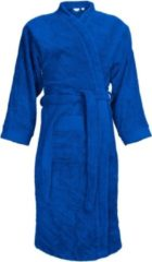 Blauwe The One towelling The One Badstoffen Badjas zonder capuchon Royal Blue XXL/3XL