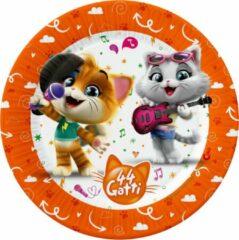 Nickelodeon Feestborden 44 Cats 20 Cm Karton Oranje 8 Stuks