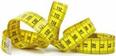 Elga Meetlint geel - 150 cm - beide zijden centimeter aanduiding - fiberglas glasvezel - meetband of lintmeter