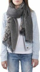 Clayre & Eef Sjaal 68x180 cm grijs