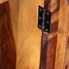 Bruine VidaXL Schrijftafel met 1 lade en 1 kastje massief sheesham hout