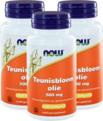 Now Foods Now Teunisbloemolie 500 Mg Trio (3x 100sft)