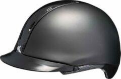 Tara M black matt carbon glossy KED cap met hoofdomtrek: 52-58 cm