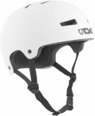Witte TSG Evolution Satin White bmx/skate helm