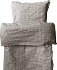 Bruine Himla Rindo dekbedovertrek check mocca - 140 x 240 cm