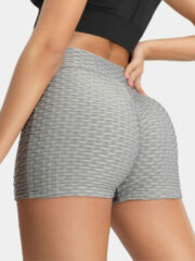 Newchic Women V-Waist Plain Elastic Sports Yoga Biking Shorts