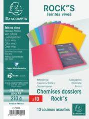 Exacompta ROCK''S 210 Pak van 10 dossiermappen 210g/m² 24x32cm voor A4. (217001E)