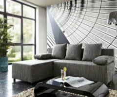 DELIFE Bank Janelle grijs 200x155 met slaapfunctie Ottomane variabele hoekban