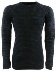 Blauwe New Republic heren trui fijn gebreid ronde hals