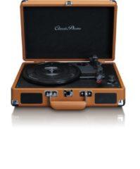 Classic Phono TT-10 - Platenspeler in retro design met 2 ingebouwde speakers - Bruin
