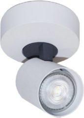 Merkloos / Sans marque Artdelight Spot Vivaro 1 lichts Ø 10 cm wit