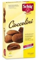 Schar Cioccolini biscotti ripieni di crema al cacao senza glutine 150g