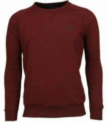 Rode Local Fanatic Exclusief Basic - Sweater - Bordeaux - Maten: XXXL