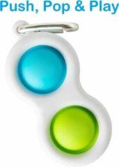 Merkloos / Sans marque Simple Dimple - Fidget Toys - Sleutelhanger - Blauw - Groen
