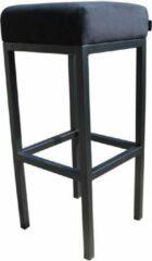 Damiware Barkruk velvet Bruce - Product Kleur: Velvet Zwart / Product Zithoogte: 75 CM