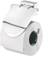 Tiger Figueras toiletrolhouder met klep 13x12x5.4cm Verchroomd metaal Chroom 319110341