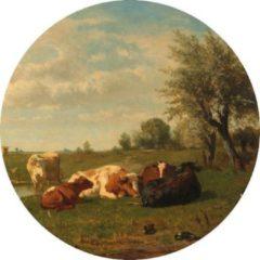 Dunnebier Home Muursticker Koeien in de wei Rijksmuseum -Ø 130 cm