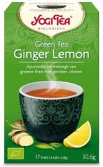 Yogi Tea Yogi Thee groen Tea Ginger Lemon