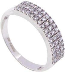 Witte Christian Wit gouden zirkonia ring