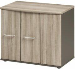 Gamillo Furniture Opbergkast Jazz 71 cm hoog in grijs eiken met grijs