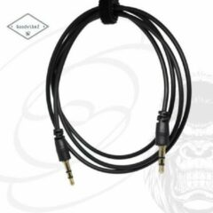 GoodvibeZ Audio Kabel 3.5mm Jack 1M male to male | Quality Cable | voor Auto Mobiel MP3-Speler Koptelefoon Speaker Mixer Headset | Zwart