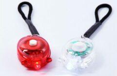Discountershop Mini LED lampjes - Rood en wit - Fietslicht - Achter en voor licht - Fietslichten - Fietsverlichting