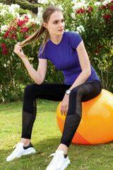 Purple-Daisy Sport legging Daisy Zwart
