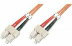 Oranje Digitus DK-2522-01 Glasvezel kabel 1 m OM2 SC Grey,Orange