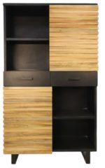 Naturelkleurige HSM Collection Wandkast Lillie - acaciahout/ijzer