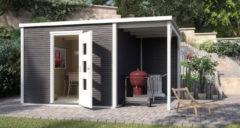 WEKA | Designhuis 'wekaLine' 413A Gr.1 | 400x250 cm | Antraciet