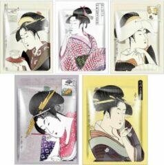 Witte Mitomo Japan Mitomo Lithospermum Collection Gezichtsmasker - Anti Aging Face Mask - Gezichtsverzorging Masker - 5 Stuks