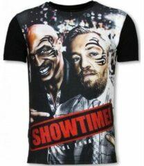 Zwarte T-shirt Korte Mouw Local Fanatic Showtime - Digital Rhinestone T-shirt
