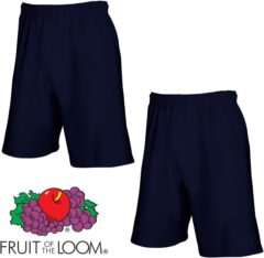 Marineblauwe Fruit of the Loom (2 Pack) Korte Broeken Blauw Maat XL