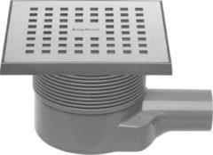 Roestvrijstalen Easy Drain Aqua Quattro vloerput abs 15 x 15 cm. horizontaal