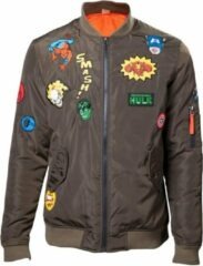 Groene MARVEL - Bomber Jacket With Hero Patches (L)
