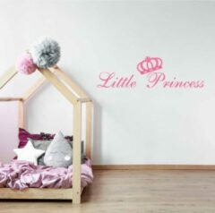 Muursticker Little Princess - Roze - 160 x 46 cm - baby en kinderkamer engelse teksten - Muursticker4Sale