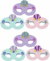 Tukk jammies Zeemeermin Maskers | Meermin Masker voor Kinderfeestje | 6 stuks