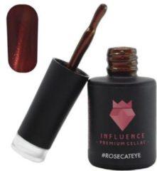 Influence - Premium Gellac Influence Gellac #ROSECATEYE - UV / LED Gellak - Gel nagellak - Gel lak - Rood / Glitter / Bordeaux - 10 ml