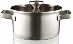 Zilveren Herman den Blijker RVS kookpan met deksel - ø20 cm - assortiment 'Het Gemak'