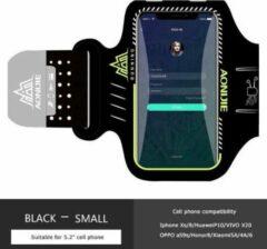 Zwarte Aonijie Sport Armband Smartphone 5.2 Inch