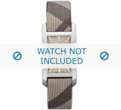 Creme witte Burberry horlogeband BU9504 Leder Cream wit / Beige Ivoor 14mm