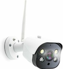 Caliber HWC404 - Full HD buiten IP camera met led verlichting - Wit