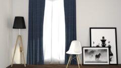Larson - Luxe Geweven Blackout Gordijn - Haken - Donkerblauw - 150 x 250 cm – Verduisterend & kant en klaar