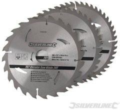 Silverline TCT cirkelzaagblad, 24, 40, 48 tanden, 3 pk.