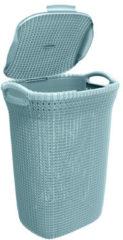 Blauwe Curver knit wasmand - 57 liter - misty blue
