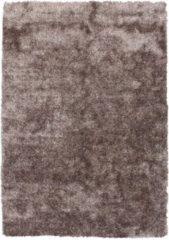 Diamond Soft Rond Vloerkleed Taupe Hoogpolig - 160x230 CM