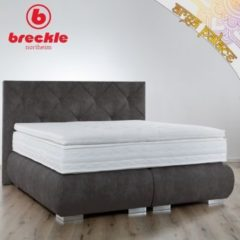 Breckle Boxspringbett Arga Palace 180x210 cm inkl. Gel-Topper Platin Premium