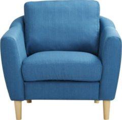 CLP Polster-Sessel NOVA mit Stoffbezug & Füße aus Birkenholz, dicke Polsterung, langlebiger Sitzkomfort, FARBWAHL