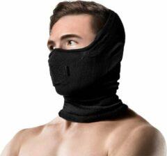Zwarte NAROO Z5H - Sportmasker - Wintersport - Wasbaar - Anti-fog - Anti Bril Beslaan - Anti Condens - Bivakmuts - Balaclava - Masker - Muts